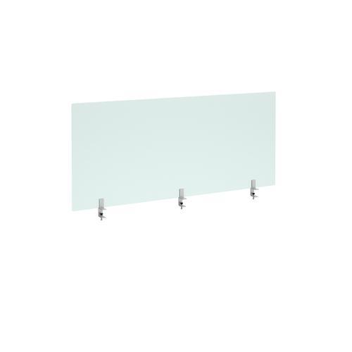 Straight high desktop acrylic screen with brackets 1600mm x 700mm