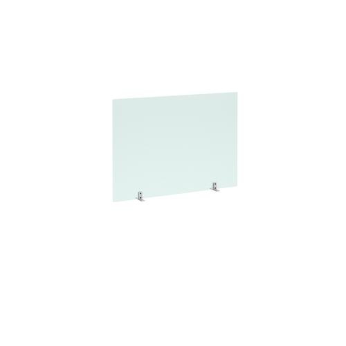 Freestanding Privacy Shield (1000w x 700h on Stabilising Feet with No Cut-Out - Acrylic Finish (AHFS1000)