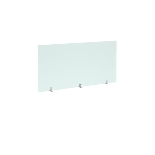 Freestanding Privacy Shield (1400w x 700h on Stabilising Feet with No Cut-Out  - Acrylic Finish (AHFS1400)