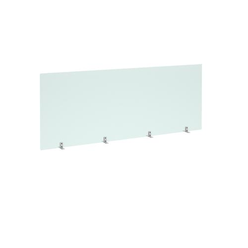 Freestanding Privacy Shield (1800w x 700h on Stabilising Feet with No Cut-Out  - Acrylic Finish (AHFS1800)
