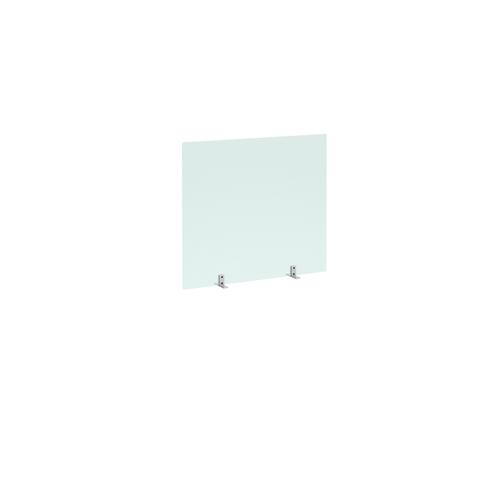 Freestanding Privacy Shield (800w x 700h on Stabilising Feet with No Cut-Out  - Acrylic Finish (AHFS800)