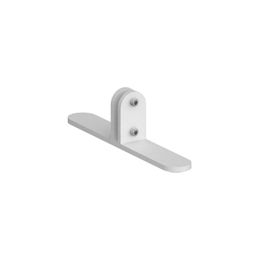 Acrylic free-standing desktop screen bracket - white (single)