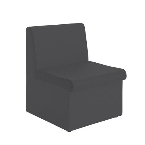 Charcoal modular reception seating with no arms