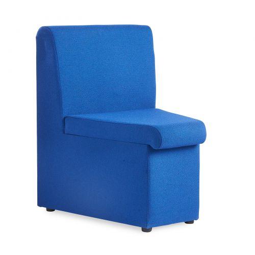 Alto Reception Chair Module Concave Blue ALT50002-B