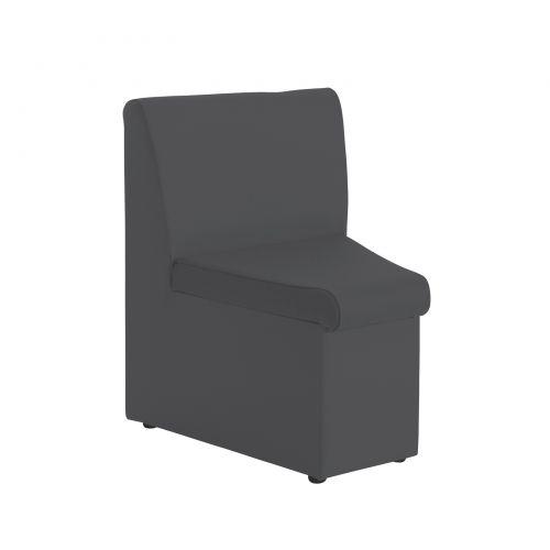 Alto Reception Chair Module Concave Charcoal ALT50002-C