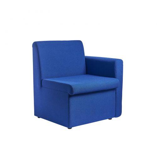 Alto Reception Chair Module Left Arm Blue ALT50005-B