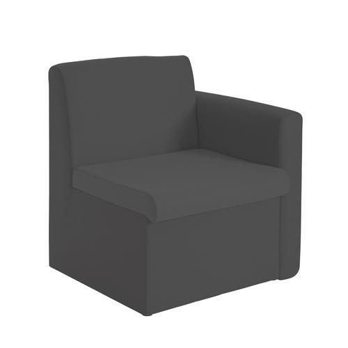 Alto Reception Chair Module Left Arm Charcoal ALT50005-C