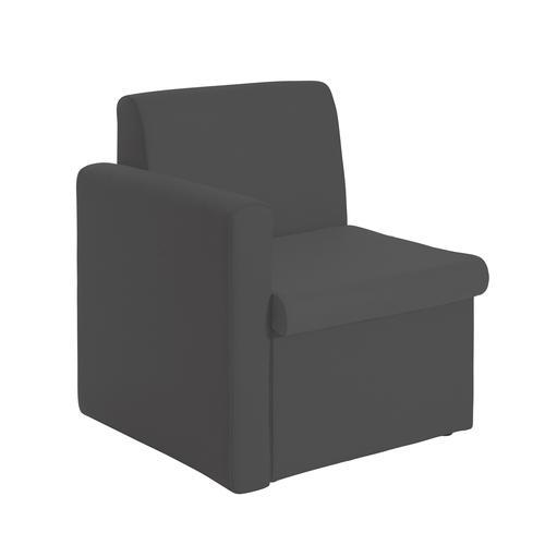 Alto Reception Chair Module Right Arm Charcoal ALT50006-C