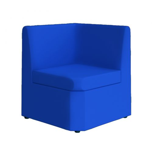 Blue Modular reception seating corner unit