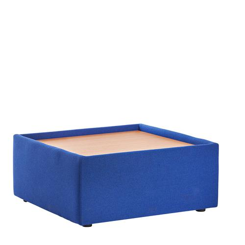 Blue modular reception seating wooden table