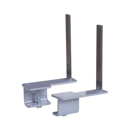 Aluminium framed screen brackets (pair) to fit on back of desk - silver