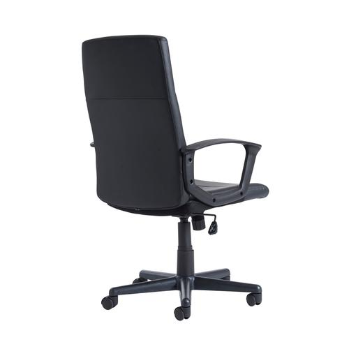 Ascona high back managers chair - black faux leather Office Chairs ASC300T1