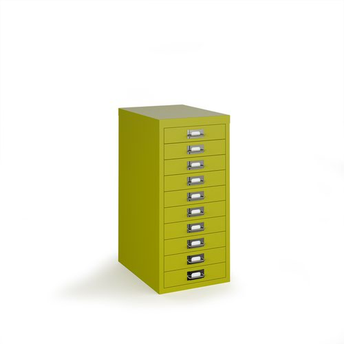 Bisley multi drawers with 10 drawers - green