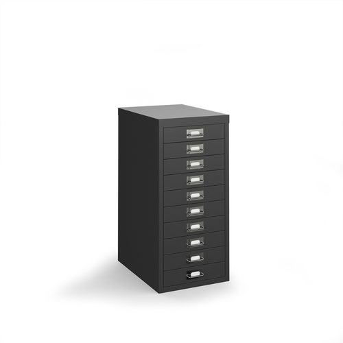 Bisley multi drawers with 10 drawers - black