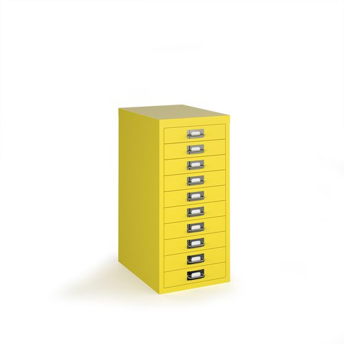 Bisley multi drawers with 10 drawers - yellow