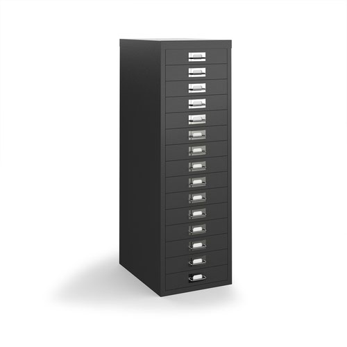 Bisley multi drawers with 15 drawers - black