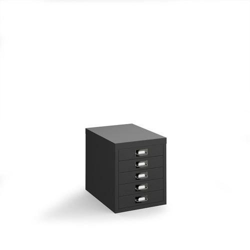 Bisley multi drawers with 5 drawers - black
