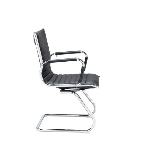Bari executive visitors chair - black faux leather Visitors Chairs BARI100C1