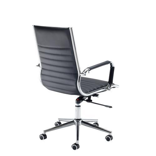 Bari medium back executive chair - black faux leather Office Chairs BARI200T1