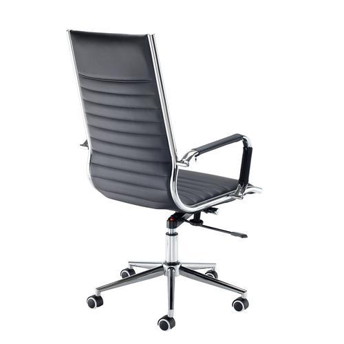 Bari high back executive chair - black faux leather Office Chairs BARI300T1