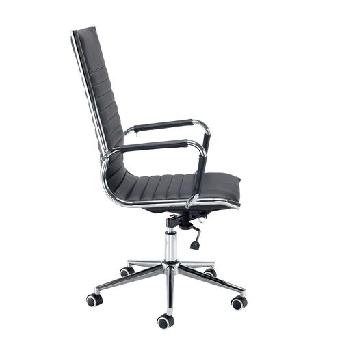 Bari high back executive chair - black faux leather Office Chairs BARI300T1
