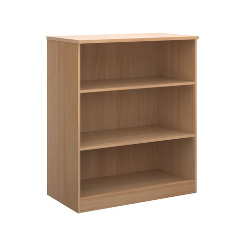Deluxe bookcase 1200mm high with 2 shelves - beech