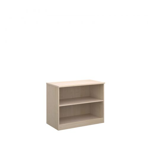 Deluxe bookcase 800mm high with 1 shelf - maple