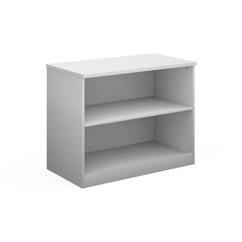 Deluxe bookcase 800mm high with 1 shelf - white