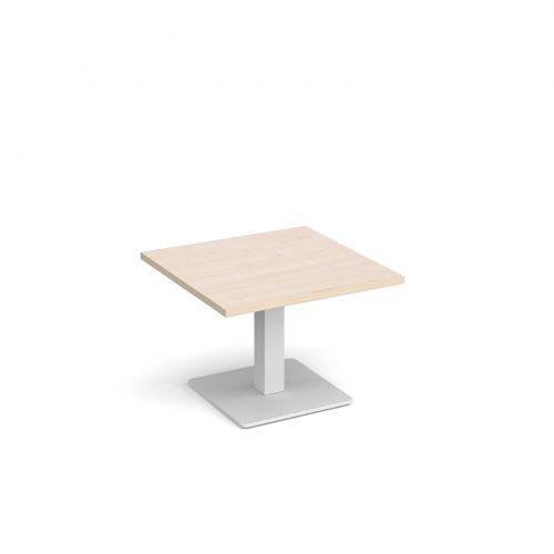 Cool Brescia Square Coffee Table With Flat Square White Base 700Mm Maple Uwap Interior Chair Design Uwaporg