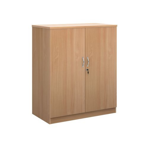 Deluxe double door cupboard 1200mm high with 2 shelves - beech