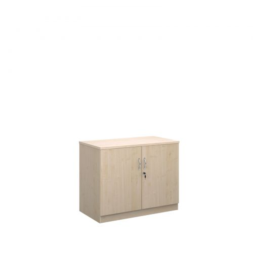 Deluxe double door cupboard 800mm high with 1 shelf - maple