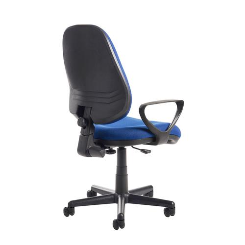 Bilbao fabric operators chair with fixed arms - blue Office Chairs BIL308B1-B