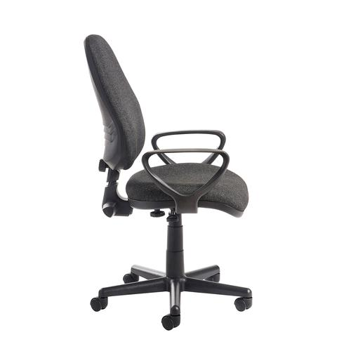 Bilbao fabric operators chair with fixed arms - charcoal Office Chairs BIL308B1-C