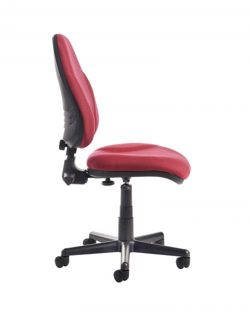 Bilbao Fabric Operators Chair With Lumbar Support And No Arms Burdy