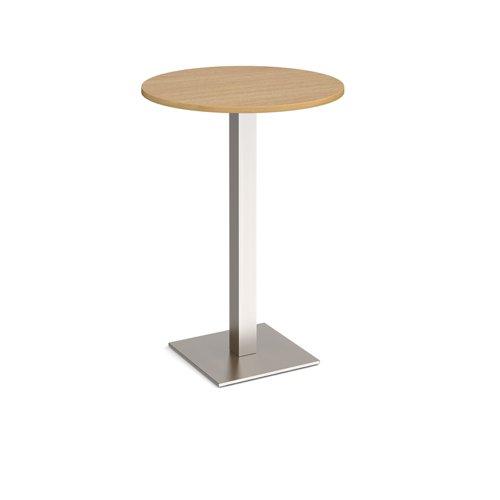 Brescia circular poseur table with flat square base