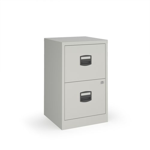 Bisley A4 home filer with 2 drawers - grey drawers