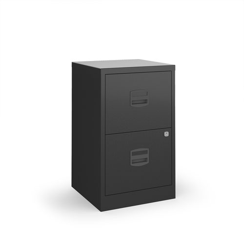 Bisley A4 home filer with 2 drawers - black drawers