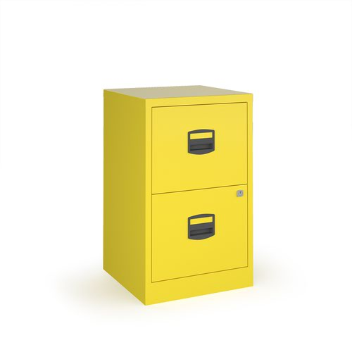 Bisley A4 Home Filer 2 Drawers Yellow Free Delivery