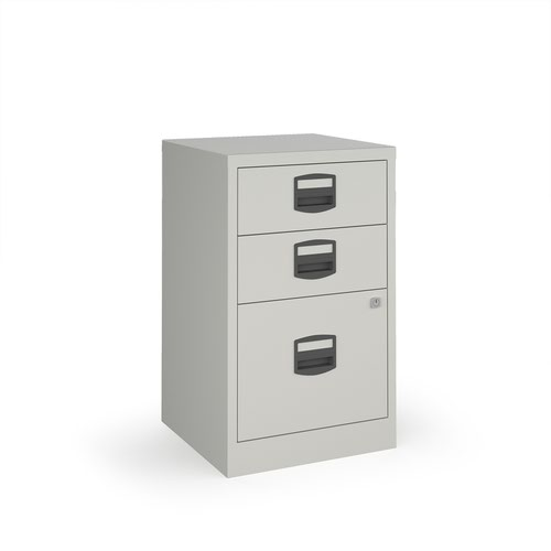 Bisley A4 home filer with 3 drawers - grey drawers