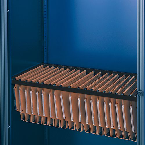 Lateral filing frame for Bisley systems storage cupboards and tambours - black