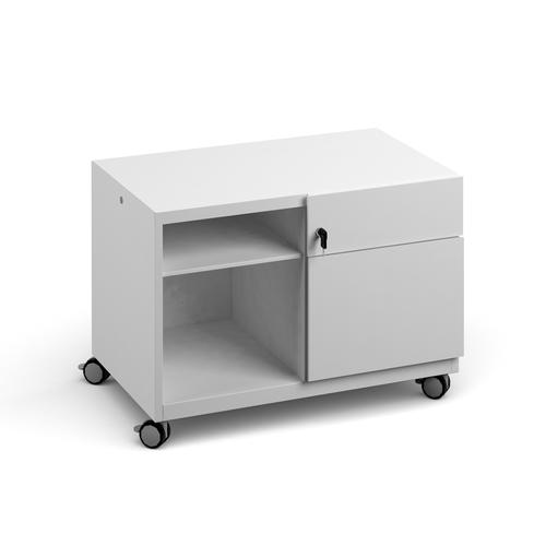 Bisley steel caddy right hand storage unit 800mm - white