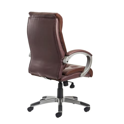 Catania high back managers chair - brown leather faced Office Chairs CAT300T1