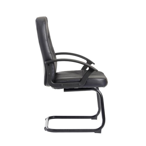 Cavalier executive visitors chair - black leather faced Visitors Chairs CAV100C1