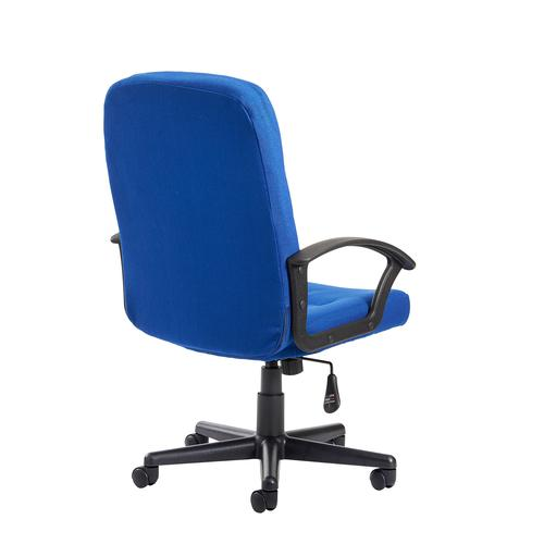 Cavalier fabric managers chair - blue