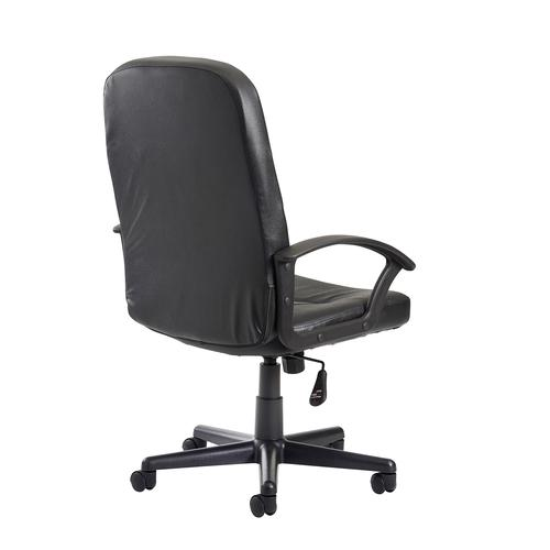 Cavalier high back managers chair - black leather faced by Dams International, CHA2019