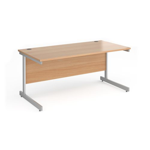 Contract 25 cantilever leg straight desk