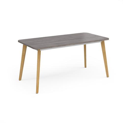 Como rectangular dining table with 4 oak legs 1800mm x 800mm - grey oak