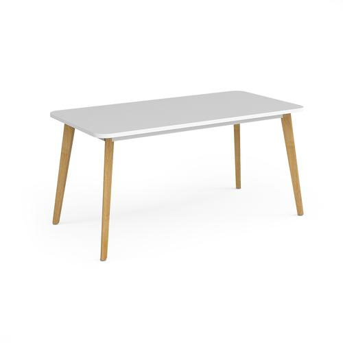 Como rectangular dining table with 4 oak legs 1800mm x 800mm - white