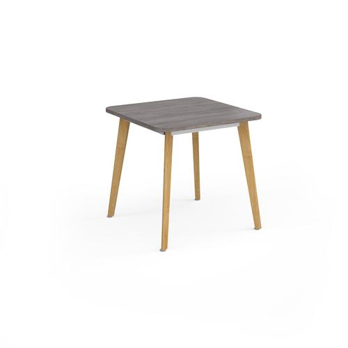 Como square dining table with 4 oak legs 800mm - grey oak
