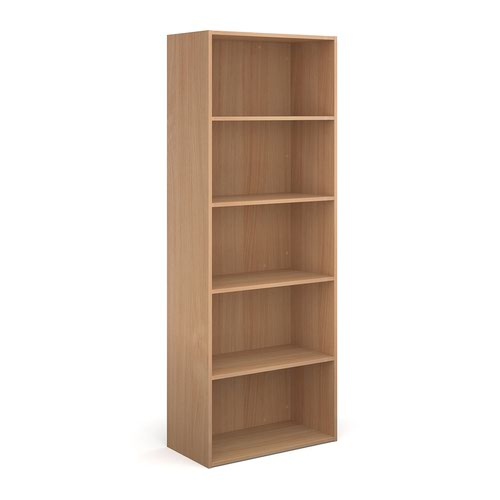 Contract bookcase 2030mm high with 4 shelves - beech